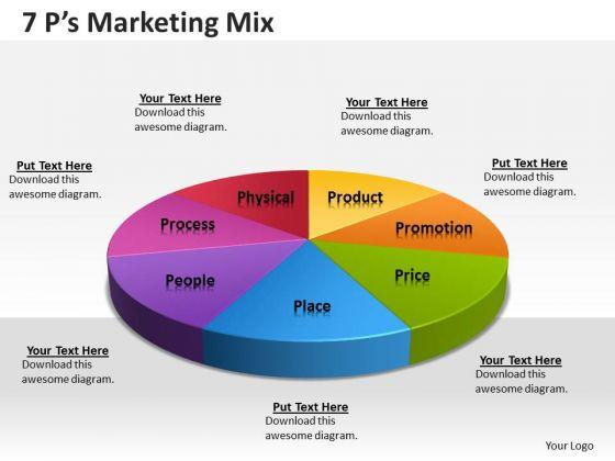 Business Framework Model 7 Ps Business Diagram