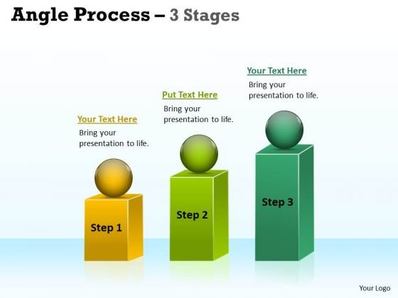 Business Framework Model Angle Process With 3 Stages Marketing Diagram