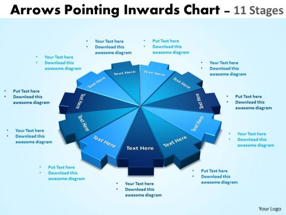 business_framework_model_arrows_pointing_inwards_chart_11_stages_consulting_diagram_1