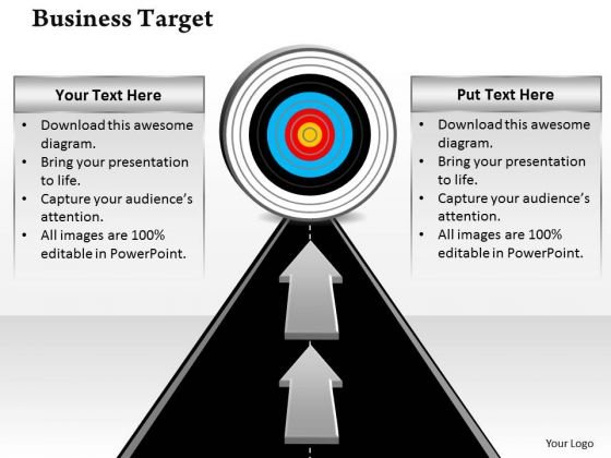 Business Framework Model Business Goals And Targets Marketing Diagram
