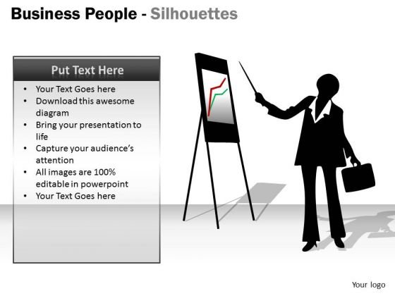 Business Framework Model Business People Silhouettes Consulting Diagram
