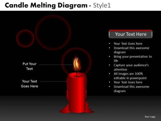 Business Framework Model Candle Melting Diagram Style 1 Marketing Diagram