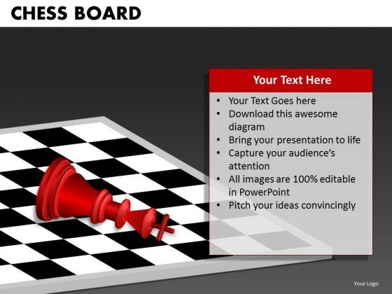 Business Framework Model Chess Board Marketing Diagram