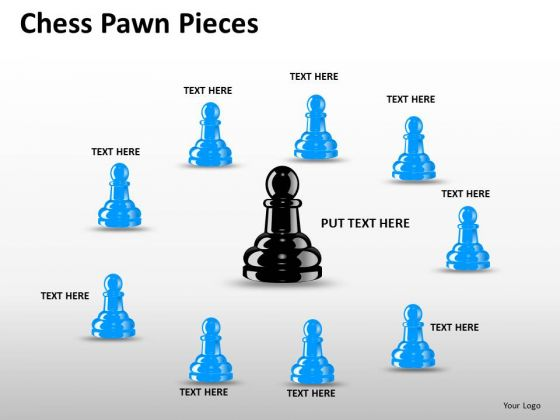 Business Framework Model Chess Pawn Pieces Business Diagram
