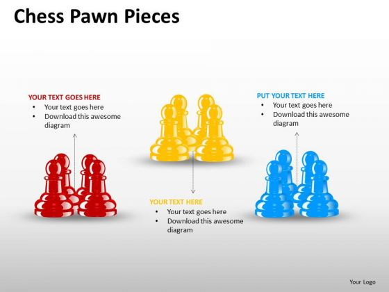Business Framework Model Chess Pawn Pieces Consulting Diagram