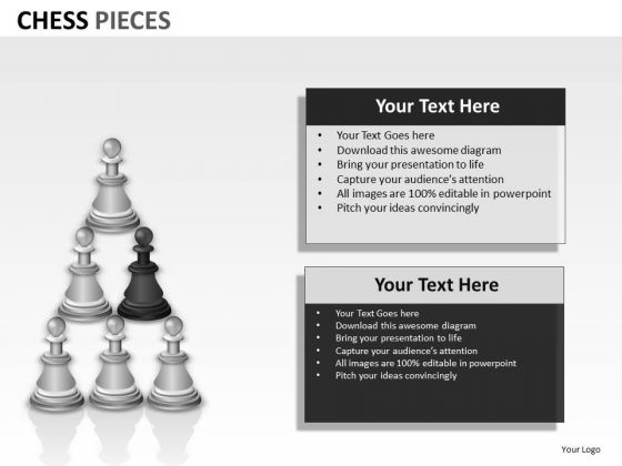 Business Framework Model Chess Pieces Strategic Management