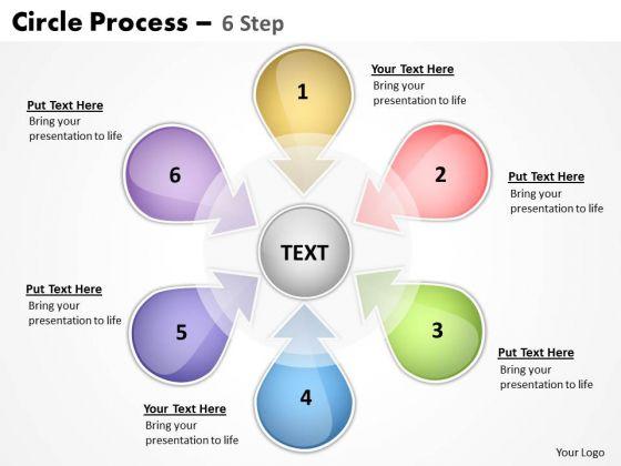 Business Framework Model Circle Process 6 Step 9 Business Diagram