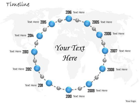 Business Framework Model Circular Business Timeline Roadmap Diagram Strategy Diagram