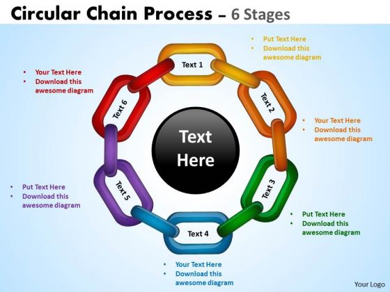 Business Framework Model Circular Chain Flowchart Process Consulting Diagram