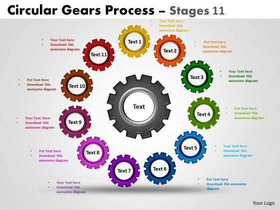business_framework_model_circular_gears_process_stages_strategic_management_1