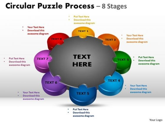 Business Framework Model Circular Puzzle Diagram Process 8 Stages Mba Models And Frameworks