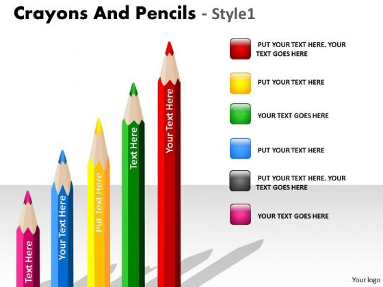 Business Framework Model Crayons And Pencils Style 1 Marketing Diagram