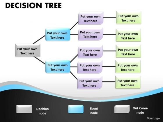 Business Framework Model Decision Tree Boxes Diagram Business Finance Strategy Development