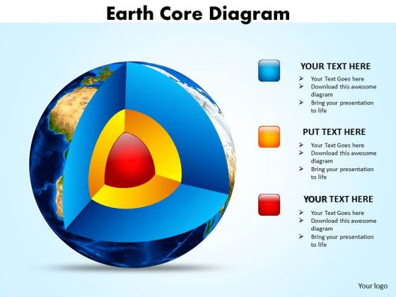 Business Framework Model Earth Core Diagram Templates Sales Diagram
