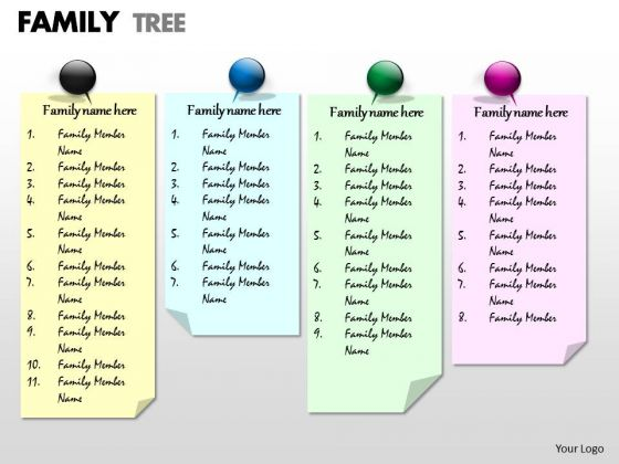 Business Framework Model Family Tree Sales Diagram