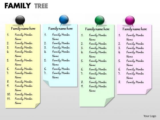 Business Framework Model Family Tree Sales Diagram