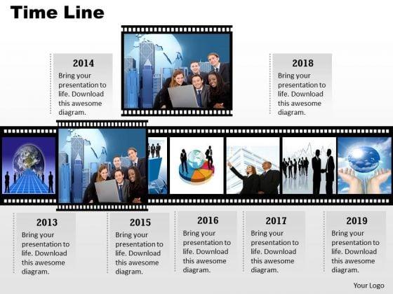 Business Framework Model Filmstrip Timeline Roadmap For Visual Display Strategic Management
