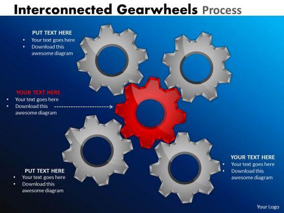 Business Framework Model Interconnected Gearwheels Process Sales Diagram
