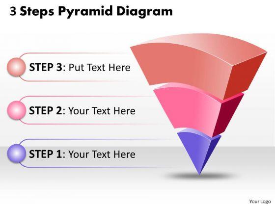 Business Framework Model Inverted 3 Steps Pyramid Diagram Marketing Diagram