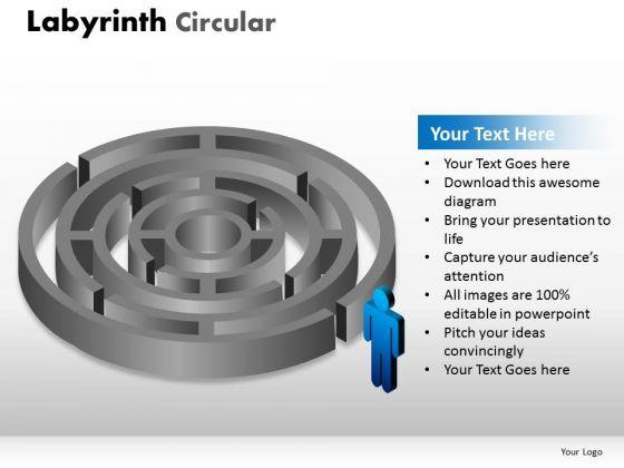 Business Framework Model Labyrinth Circular Diagram Consulting Diagram