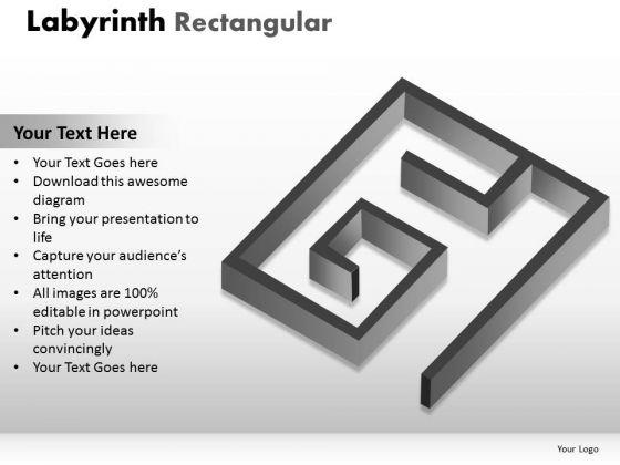 Business Framework Model Labyrinth Rectangular Business Diagram