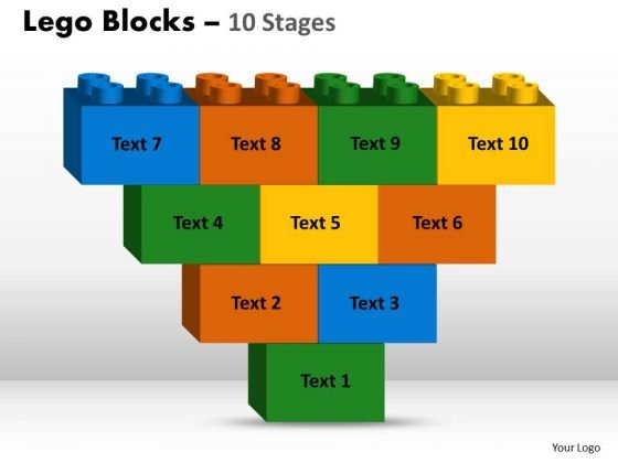 Business Framework Model Lego Blocks 10 Stages Marketing Diagram