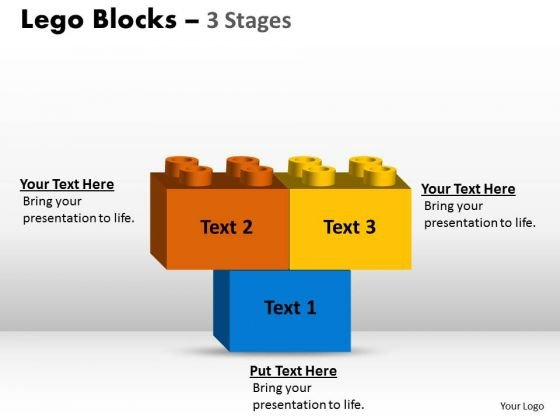 Business Framework Model Lego Blocks 3 Stages Consulting Diagram