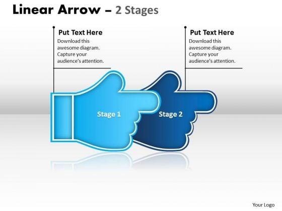 Business Framework Model Linear Arrow 2 Stages