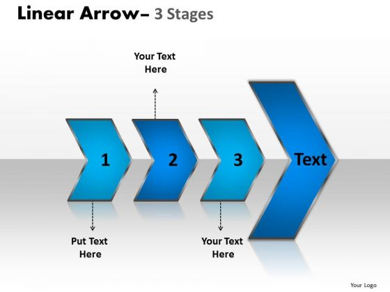 Business Framework Model Linear Arrow 3 Stages Consulting Diagram
