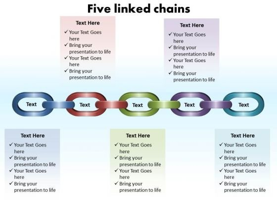 Business Framework Model Live Linked Chains Editable Consulting Diagram