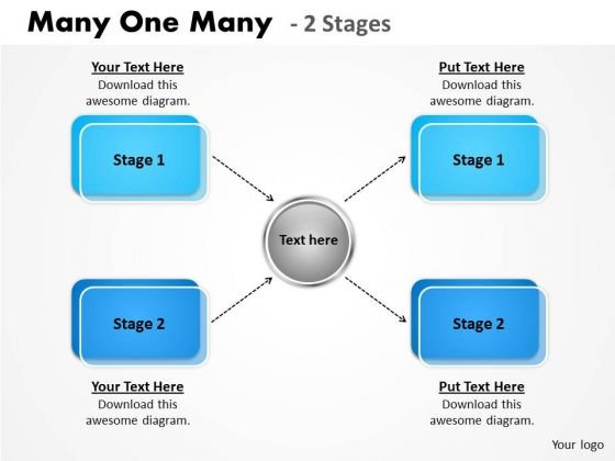 Business Framework Model Many One Many 2 Stages Strategic Management