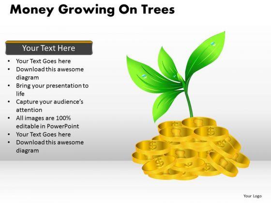 Business Framework Model Money Growing On Trees Marketing Diagram