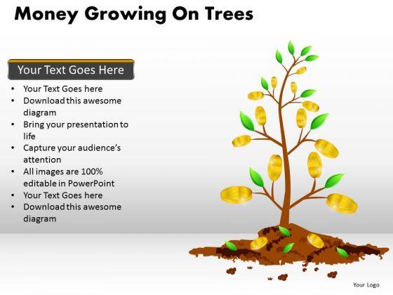 Business Framework Model Money Growing On Trees Sales Diagram
