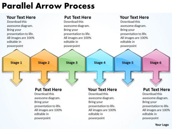 Business Framework Model Parallel Arrow Process Strategic Management