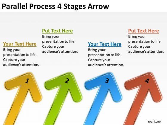 Business Framework Model Parallel Process 4 Stages Arrow Consulting Diagram