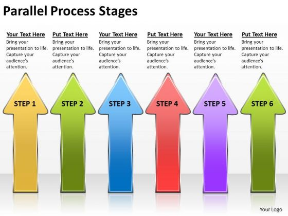 Business Framework Model Parallel Process Stages Business Finance Strategy Development
