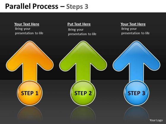 Business Framework Model Parallel Process Steps Strategy Diagram