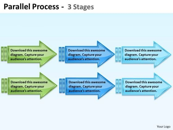 Business Framework Model Parallel Process Strategy Diagram