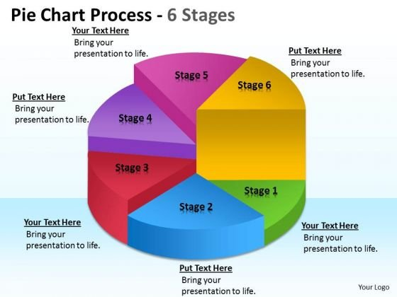 Business Framework Model Pie Chart Process 6 Stages Marketing Diagram