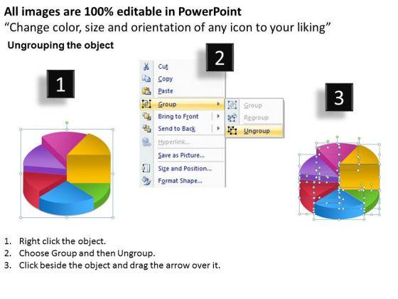 business_framework_model_pie_chart_process_6_stages_marketing_diagram_2