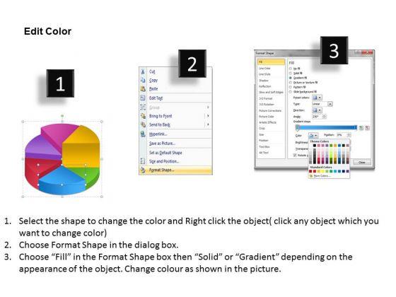 business_framework_model_pie_chart_process_6_stages_marketing_diagram_3