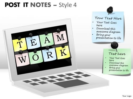 Business Framework Model Post It Notes Style Business Diagram