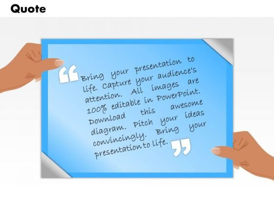 Business Framework Model Quotes Slide For Presentations Sales Diagram