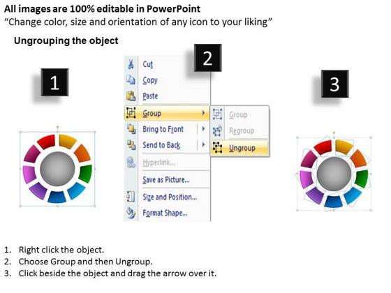 business_framework_model_ring_chart_diagram_9_stages_marketing_diagram_2