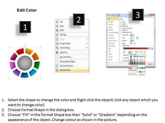 business_framework_model_ring_chart_diagram_9_stages_marketing_diagram_3