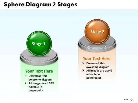 Business Framework Model Sphere Diagram 2 Stages