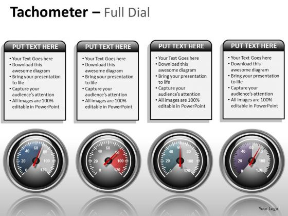 Business Framework Model Tachometer Full Dial Business Cycle Diagram