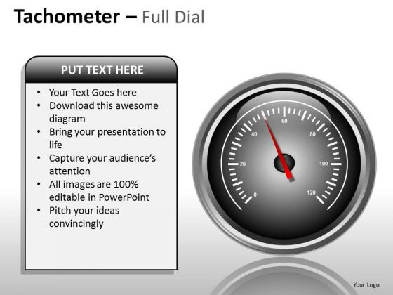 Business Framework Model Tachometer Full Dial Marketing Diagram