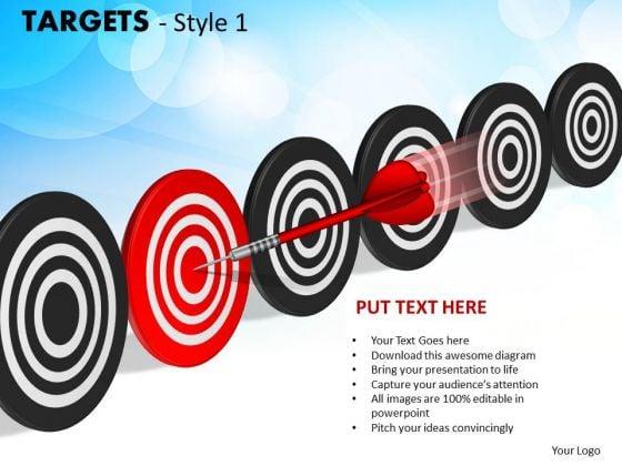 Business Framework Model Targets Style 1 Sales Diagram