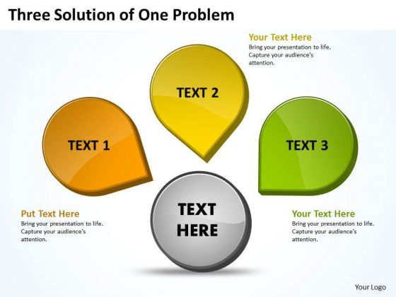 Business Framework Model Three Solution Of One Problem 9 Strategy Diagram